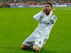 Bayern Mnichov - Real Madrid: Sergio Ramos a jeho oslava