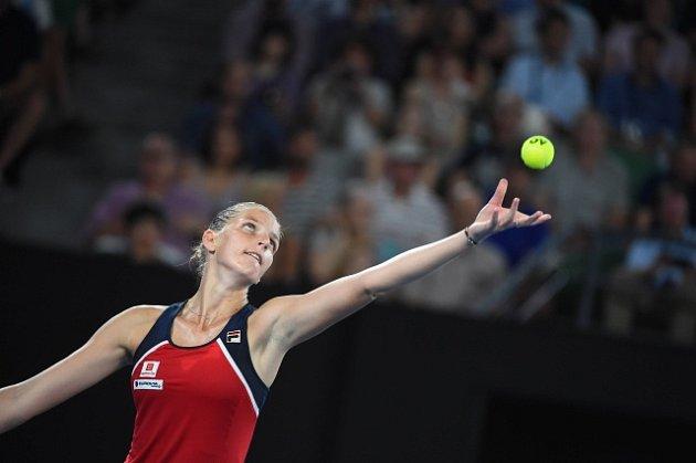 Karolína Plíšková na Australian Open 2017.