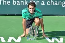 Roger Federer triumfoval v Indian Wells.