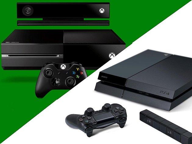 Herní konzole Xbox One a PlayStation 4.