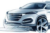 Skica nového Hyundai Tucson.