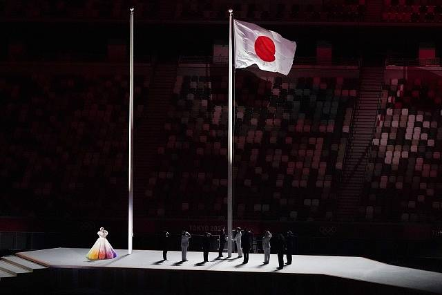 Zahajovací ceremoniál LOH v Tokiu.