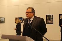 Ruský velvyslanec v Turecku Andrej Karlov.