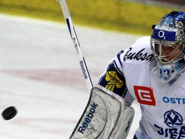 Jakub Štěpánek podal proti Budějovicím bezchybný výkon.