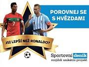 Jsi lepší než Ronaldo? Porovnej se s hvězdami.