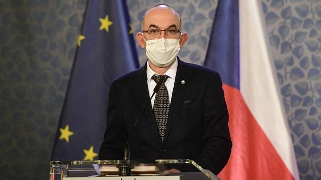 Ministr zdravotnictví Jan Blatný (na snímku z 14. prosince 2020)