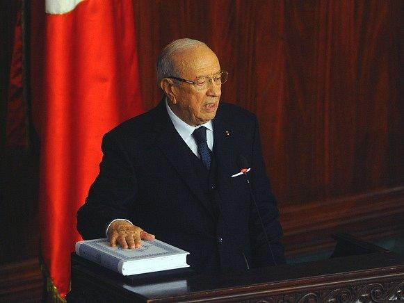 Tuniský prezident Kaíd Sibsí.
