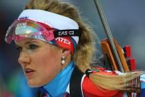 Biatlonistka Gabriela Soukalová se v Soči dočkala stříbrné medaile.