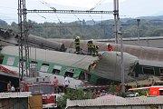 Odstraňování škod po nehodě vlaku