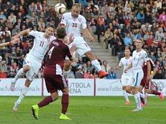 Daniel Kolář v utkání proti Lotyšsku