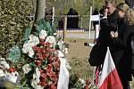 Smuteční ceremoniál na připomínku památky obětí pádu polského vládního letounu u Smolenska na západě Ruska