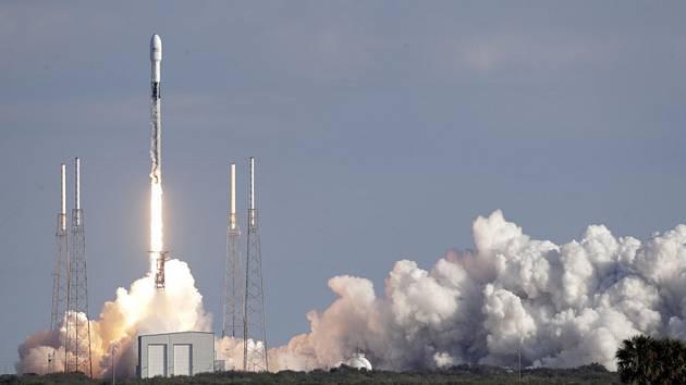 Start rakety Falcon 9 společnosti SpaceX