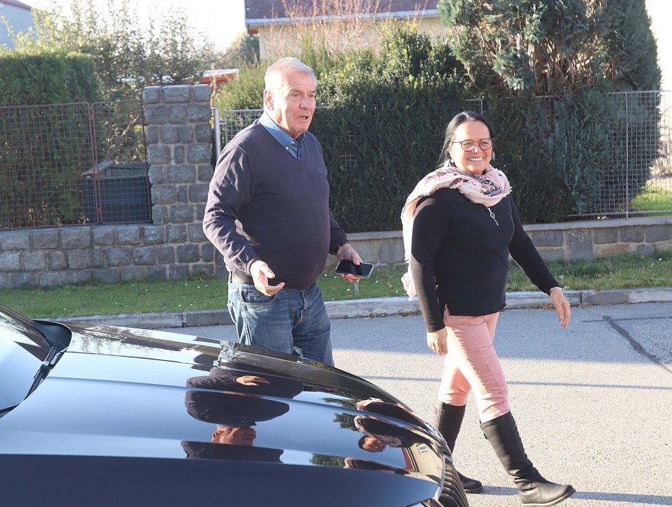 Vratislav Kulhánek navštívil rodinu předplatitele Deníku v Nových Hodějovicích