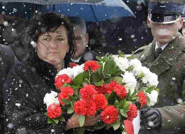 Polská první dáma Anna Komorowská ve Smolensku