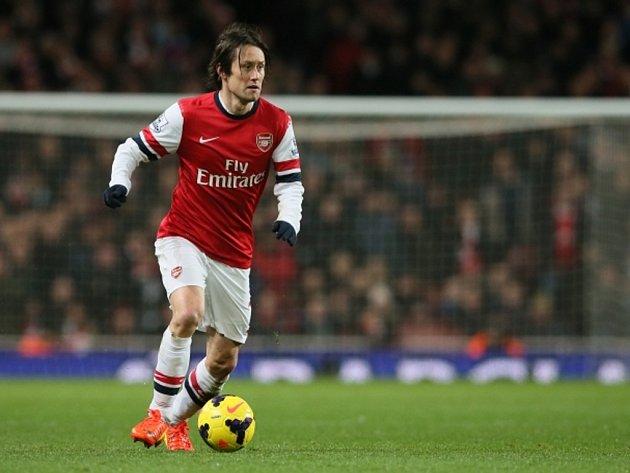 Tomáš Rosický prodloužil s Arsenalem smlouvu. Bude na konci sezony slavit svůj první anglický titul?