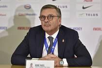Prezident Mezinárodní hokejové federace (IIHF) René Fasel