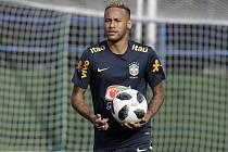 Brazilský fotbalista Neymar při tréninku
