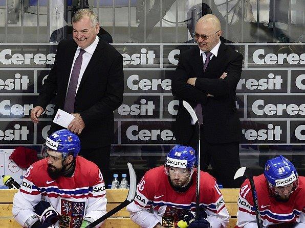 Zleva trenéři ČR Vladimír Vůjtek a Jiří Kalous.