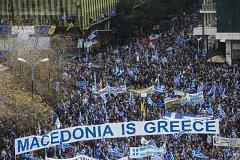 Demonstrace v centru Athén