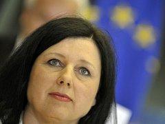 Věra Jourová na slyšení v Evropském parlamentu.