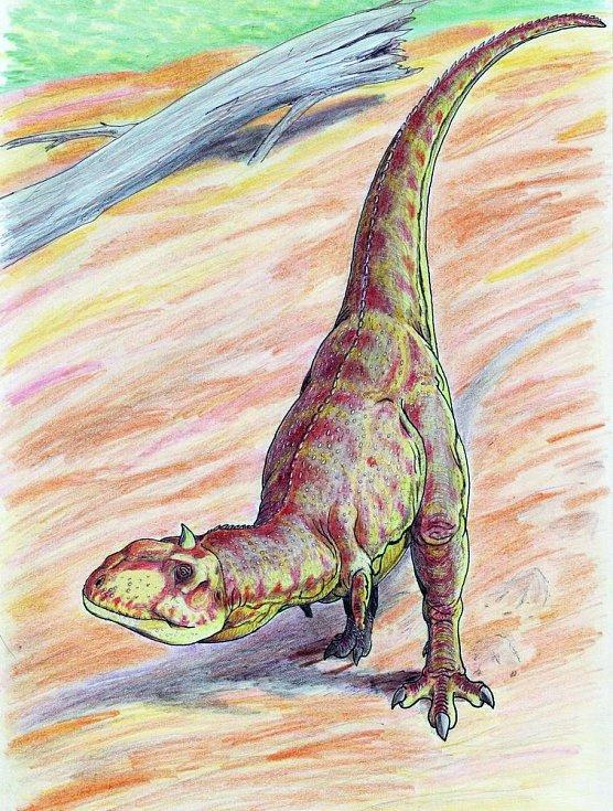Umělecká představa dinosaura druhu Abelisauridů. Také Abelisauridi žili v Kem Kem