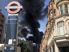 Požáru hotelu Mandarin Oriental v Londýně