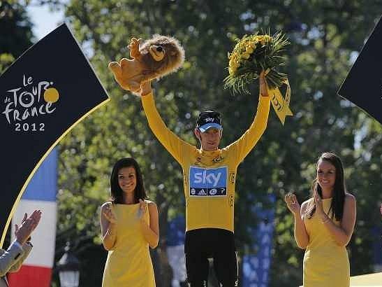 Vítěz Tour de France 2012 Bradley Wiggins.