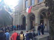 Stávka studentů Vyjdi ven: Právnická fakulta UK