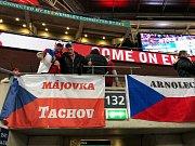 Tachovští fanoušci ve Wembley