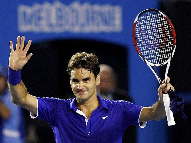 Švýcar Roger Federer se hladce dostal až do semifinále.