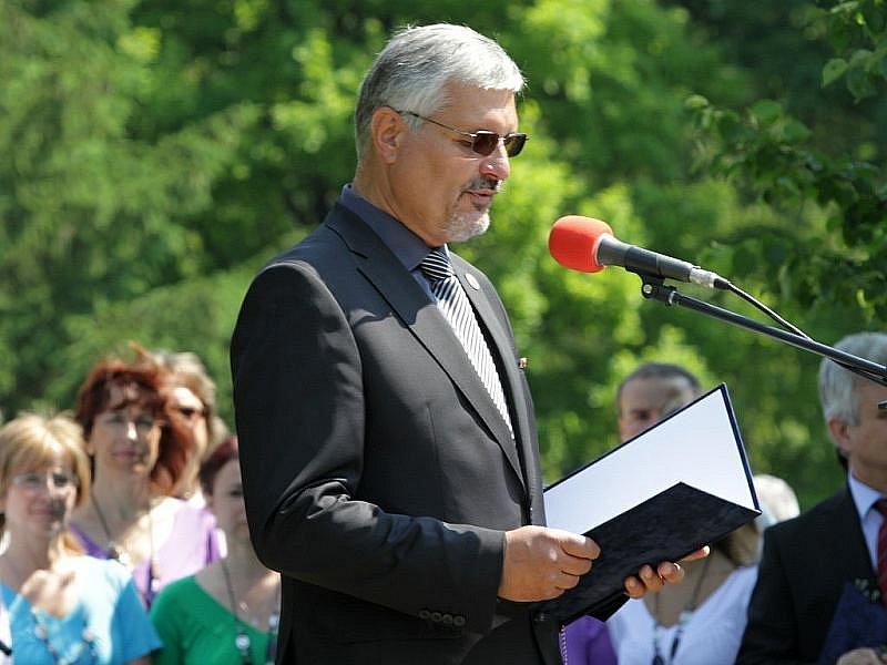 JUDr. Milouš Červencl přivítal účastníky pietní vzpomínky