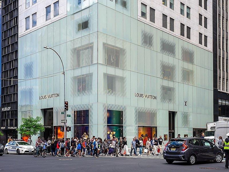 Obchod značky Louis Vuitton v americkém New Yorku.
