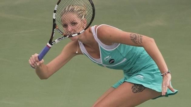 Karolína Plíšková na turnaji v Dubaji.