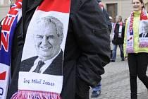 Příznivci Miloše Zemana