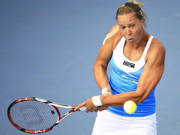 Lucie Hradecká ve finále turnaje v Istanbulu.