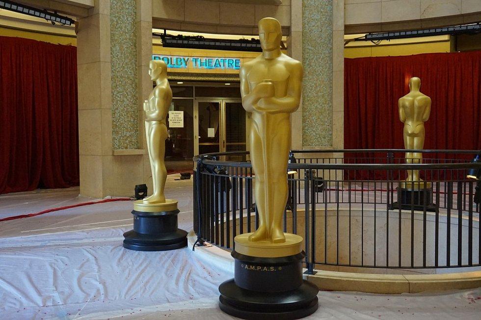Předávání filmových Oscarů. Ilustrační foto