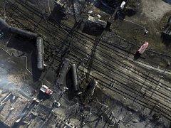 Na severovýchodě Bulharska dnes vykolejil a následně explodoval nákladní vlak s cisternami, ve kterých byl kapalný plyn.