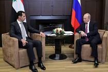 Setkání Vladimira Putina s Bašárem Asadem v Soči