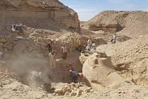 Archeologické vykopávky v egyptském lomu Gebel el-Silsila