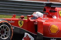 Velká cena Malajsie: Sebastian Vettel na trati