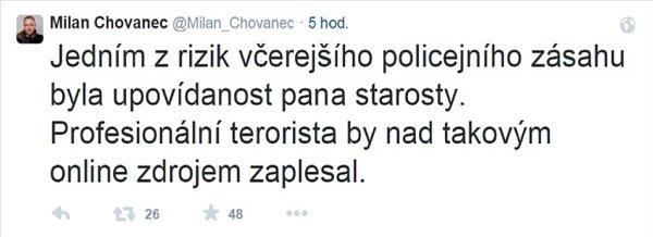 Výrok ministra Chovance.