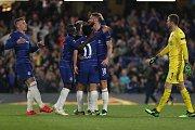 Odveta čtvrtfinále Evropské ligy mezi londýnskou Chelsea a pražskou Slavií