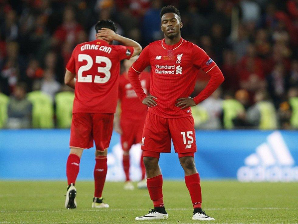 Zklamaný Daniel Sturridge z Liverpoolu.