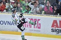 Tomáš Urban z Mladé Boleslavi se raduje z gólu.