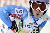 Celková vítězka SP Tina Mazeová získala i malý glóbus za superobří slalom.