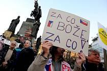 Protivládní protest Holešovské výzvy v Praze.