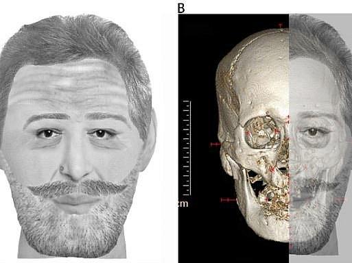 Digitálně rekonstruovaná podoba Jindřicha IV.