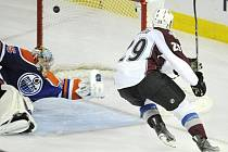 Ze zápasu Colorado Avalanche versus Edmonton Oilers