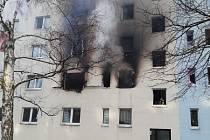 Záběry vybuchlého domu v německém Blankenburgu