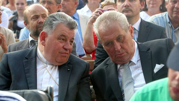 Dominik Duka a Miloš Zeman